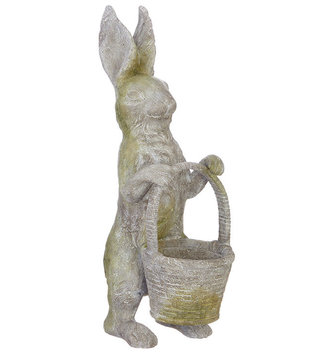 Mossy Rabbit with Basket