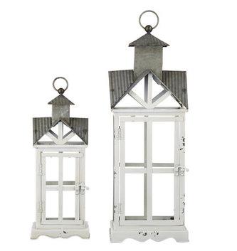 Metal & Glass Church Lantern (2-sizes)