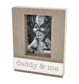 Daddy & Me Block Frame Sign