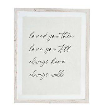 Loved You Glass Framed Print