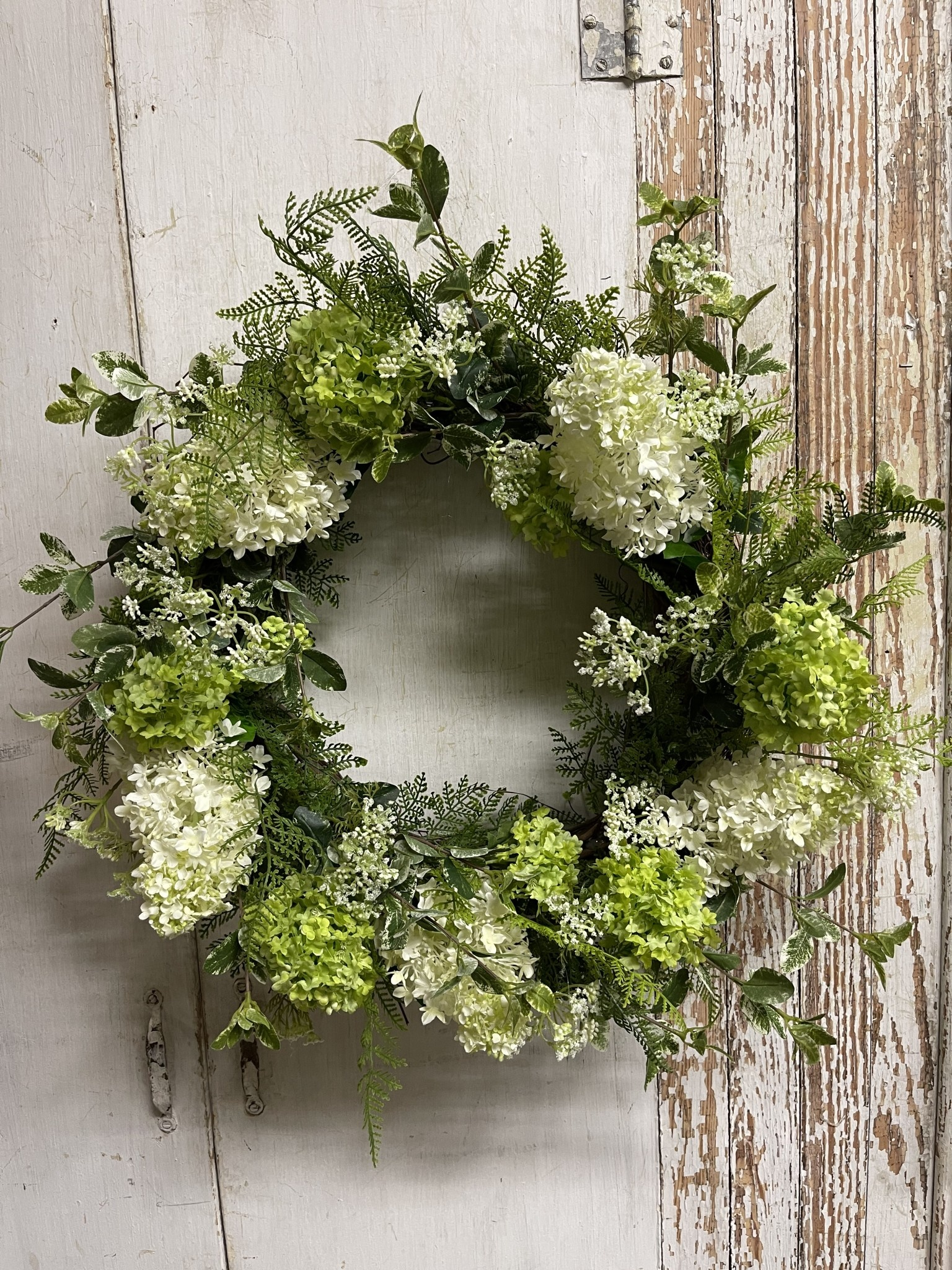 Custom Viburnum & Pinnacle Hydrangea Wreath