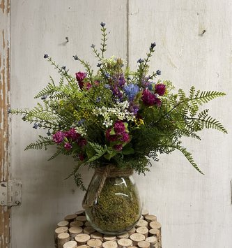 Custom Bloomsburry & Wildflowers in Glass
