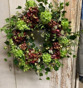 Custom Blooming Hydrangeas Wreath
