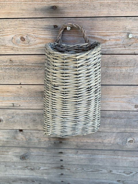 Tall Willow Wall Basket
