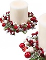 """6"""" Jeweled Pearl Berry Candle Ring (2-Colors)"""