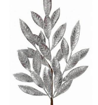 Antique Silver Bay Leaf Spray