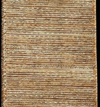 "2.5"" x 10"" Sheer Gold Striped Ribbon"