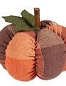 Mini Plaid Fabric Pumpkins (3-Styles)
