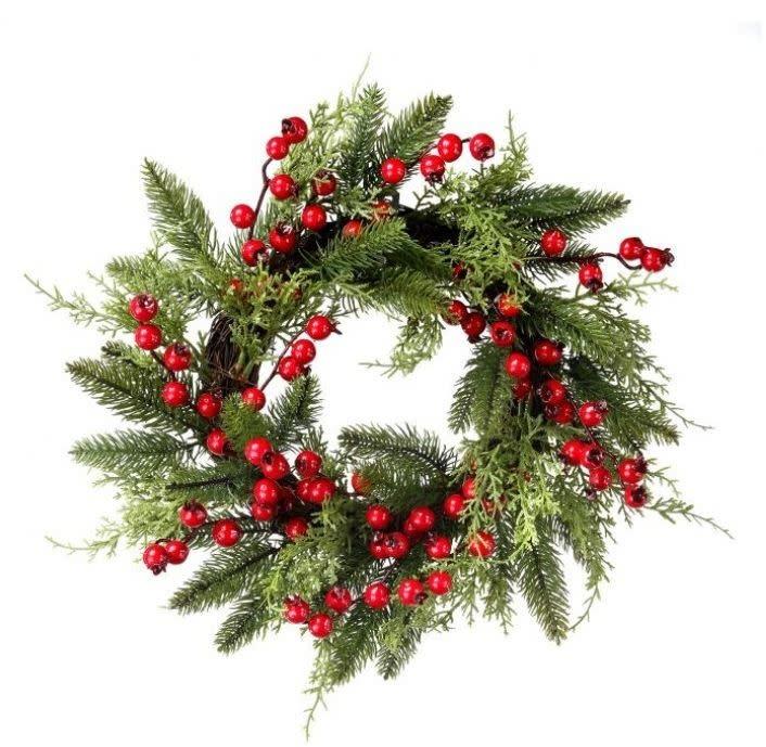 Juniper Pine Berry Mini Wreath