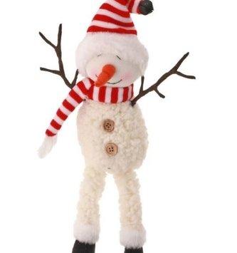 Jingle Bell Snowman w/ Twig Arms