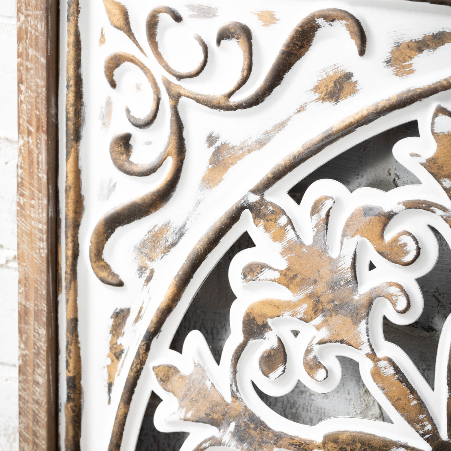 Square Cut-Out Floral Wall Medallion