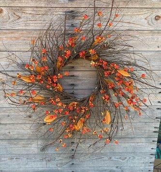 Harvest Twig Bittersweet Wreath