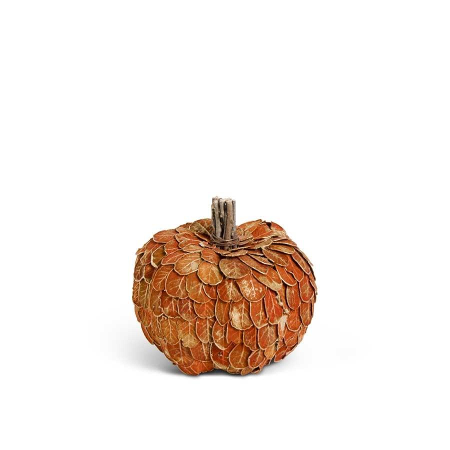 Natural Orange Leaf Pumpkin (2-Sizes)