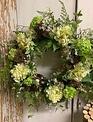 Custom Hydrangea & Berry Nest Wreath