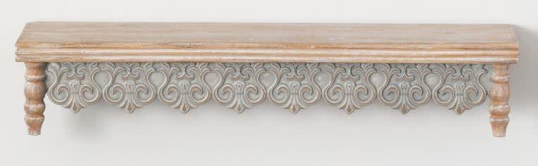 Graywashed Scalloped Wall Shelf (2-Sizes)