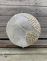LED Silver & Cream Glitz Pinecone Sphere (3-sizes)