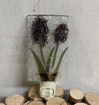 Purple Hyacinth Glass Night Light