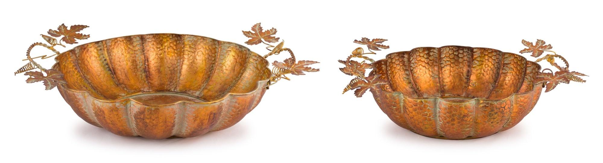 Distressed Copper Pumpkin Bowl (2-Sizes)