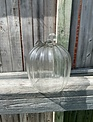 Clear Glass Ribbed Pumpkin (2-Sizes)