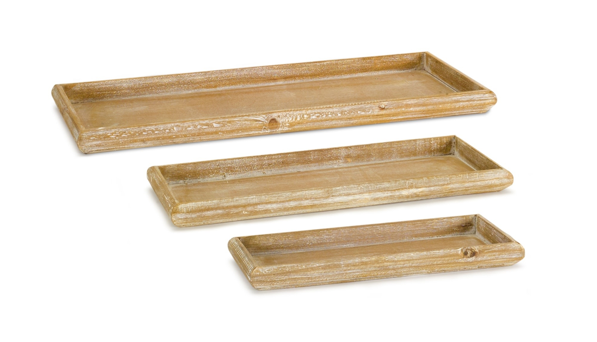 Rustic Brown Wooden Tray (3-Sizes)