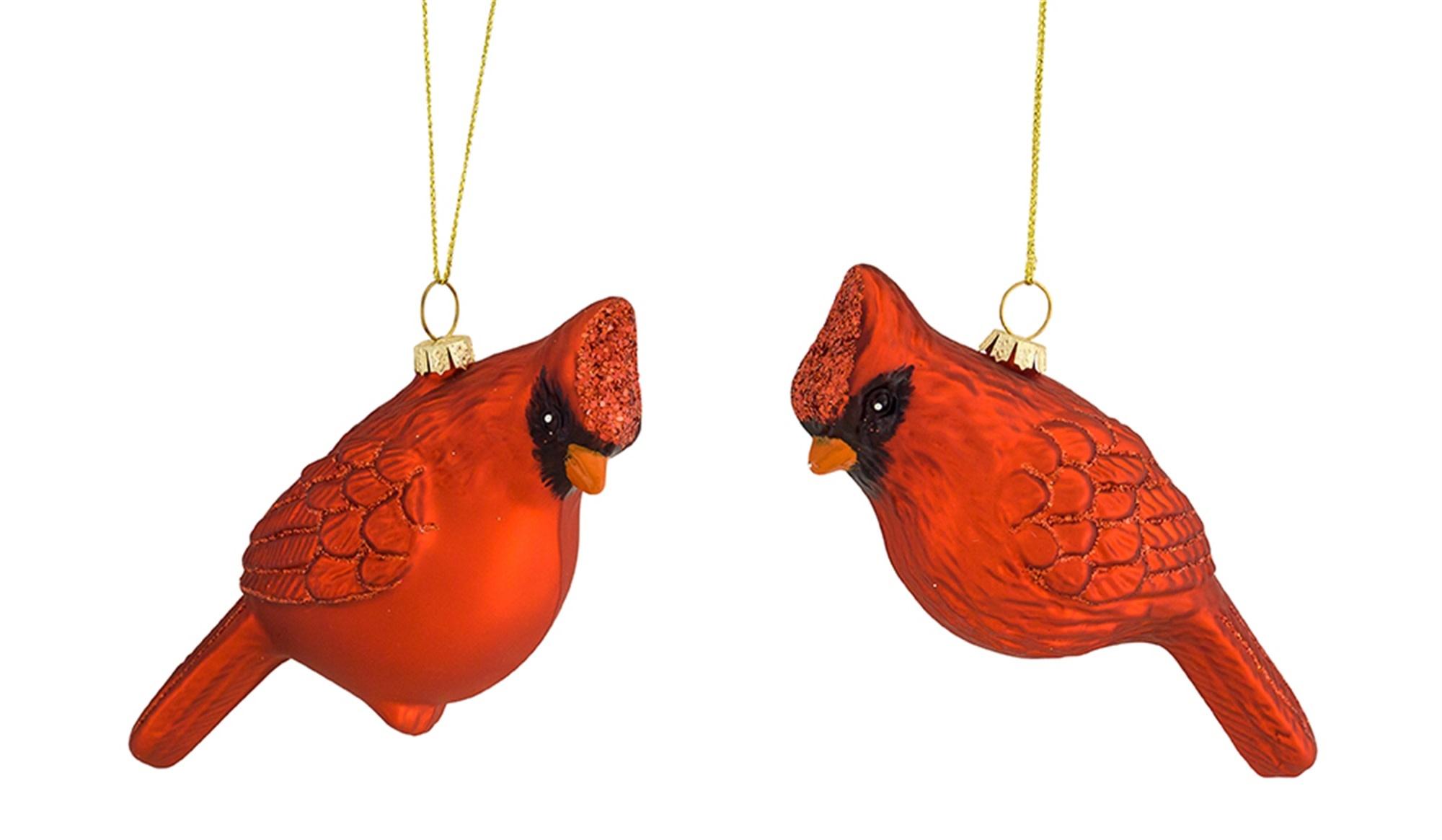 Glass Cardinal Ornament (2-Styles)