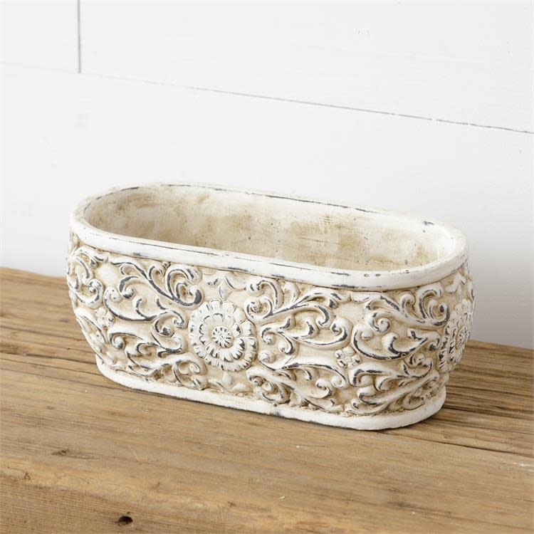 Vintage Embossed Medallion Container (2-Styles)