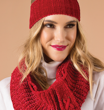 Red Velour Infinity Scarf By: Simply Noelle