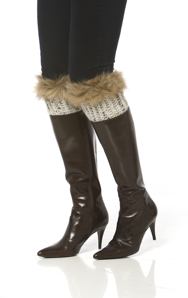Simply Noelle Ivory Weave Boot Cuffs