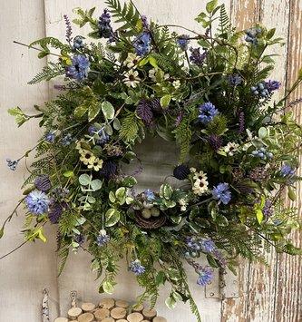 Custom Bird Nest & Twig Thistle Wreath(2Styles)