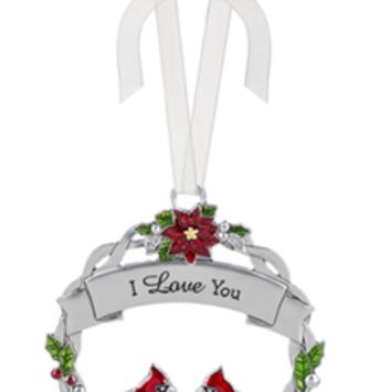 I Love You Metal Wreath Ornament