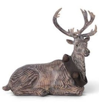 Carved Laying Reindeer