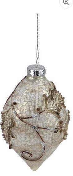 Platinum Metallic Leaf Ornament (2-Styles)