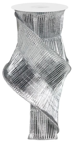 Shimmer Pleated Metallic Ribbon 5 YDS (2-Colors)