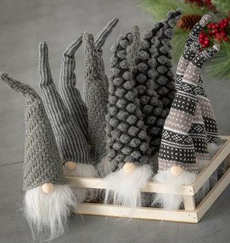 Gray Woven Gnome Ornament (4-Styles)