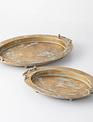 Golden Handeled Tray (2-Sizes)