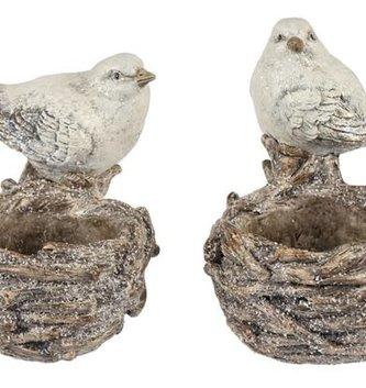 Shimmer Bird Nest Votive Holder (2-Styles)