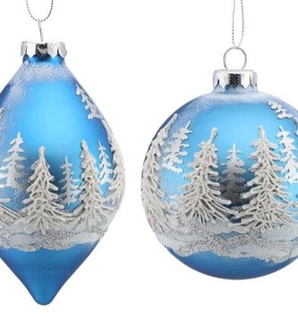 Blue Winter Forest Ornament (2-Styles)