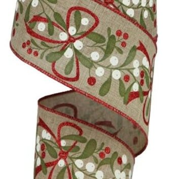 Natural Mixed Berry Wired Ribbon 10 Yds