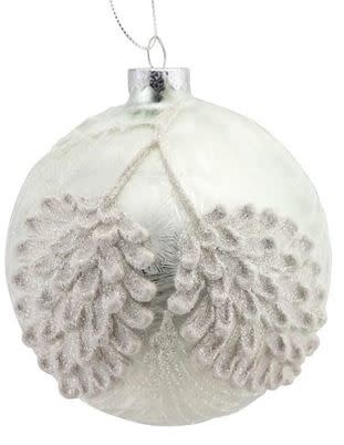 White Frosted Pine Cone Ornament (2-Styles)