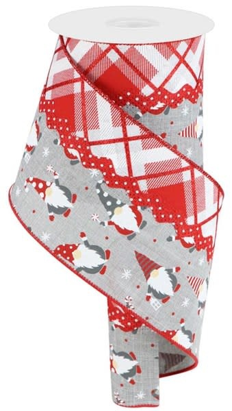 Gnome Plaid Wired Ribbon 10 Yds