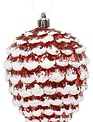 Snow Tipped Red Pinecone Ornament