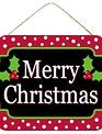 Polka Dot Hanging Merry Christmas Sign