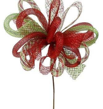 Shimmer Multi Ribbon Poinsettia