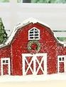 Snow Covered Barn Village Piece