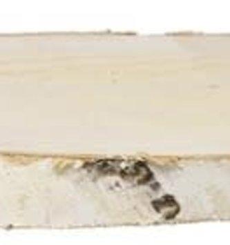 Oval Rustic Birch Log Slice