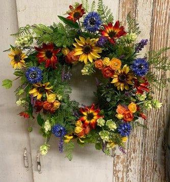 Custom Over the Rainbow Wreath