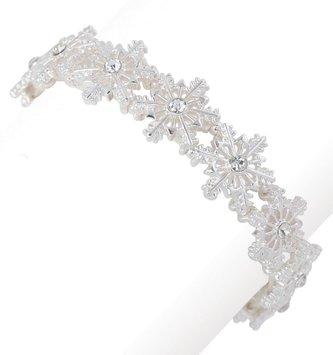 Silver Snowflake Stretch Bracelet