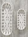 Whitewashed Oval Tobacco Basket (2-Sizes)