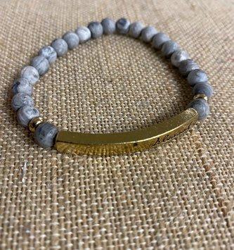 Multi Stone Blessed Bracelet Gray