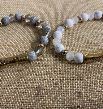 Multi Stone Crystal Blessed Bracelet (2-Colors)